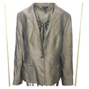 ANNE TAYLOR size 8 grey blazer